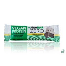 AbsoBAR ZERO vaníliás keksz ízesítésű fehérjeszelet 40 g (vegán, gluténmentes)