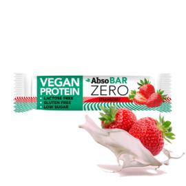 AbsoBAR ZERO Eper ízesítésű fehérjeszelet 40 g (gluténmentes)