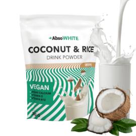 AbsoWHITE növényi italpor (kókusz- és rizspor alapú) 300 g