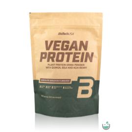 BioTech USA csokoládé-fahéj ízű vegán fehérjepor 500 g – Natur Reform