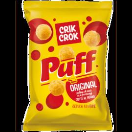 Crik Crok Puff Original - Gluténmentes négysajtos kukorica snack 110 g