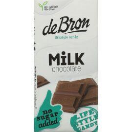 DeBron hozzáadott cukormentes táblás tejcsokoládé 85 g - NR