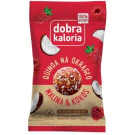 Dobra Kaloria Quinoa energiagolyó málna-kókusz (gluténmentes) 24 g