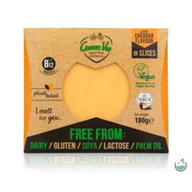 Green Vie Cheddar ízesítésű szeletelt 180 g