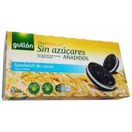 Gullón Kakaós keksz krém töltelékkel hozzáadott cukor nélkül 210 g