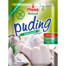 Haas Natural kókuszízű pudingpor 40 g - Natur Reform