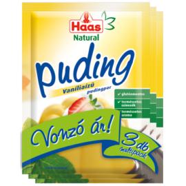 Haas Natural vaníliaízű pudingpor 3x40 g - Natur Reform