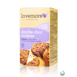 LoveMore gluténmentes dupla csokis keksz 150 g (gluténmentes)
