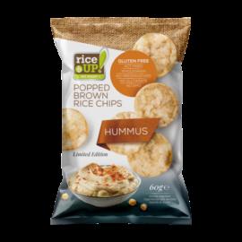 Rice UP! Hummus ízesítésű barna rizs chips 60 g – Natur Reform