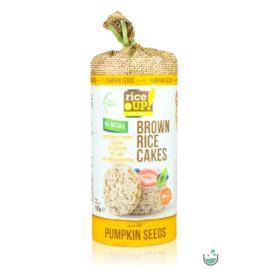 Rice UP! Puffasztott teljes kiőrlésű barna rizs szelet tökmaggal 120 g