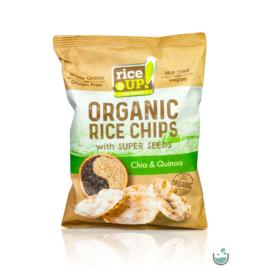 Rice UP! bio teljes kiőrlésű barna rizs chips chia maggal és quinoával 25 g