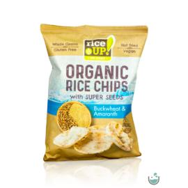 Rice UP! bio teljes kiőrlésű barna rizs chips hajdinával és amaránttal 25 g