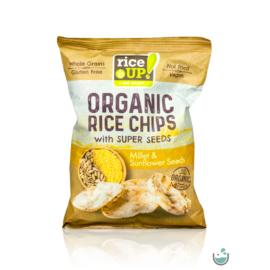 Rice UP! bio teljes kiőrlésű barna rizs chips kölessel és napraforgómaggal 25 g