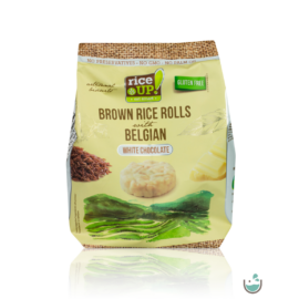 Rice UP! fehércsokoládés barna rizs snack 50 g