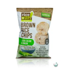 Rice UP! Hagymás–tejfölös ízesítésű barna rizs chips 60 g