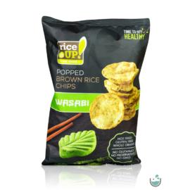 Rice UP! wasabi ízesítésű barna rizs chips 60 g