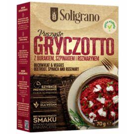 Soligrano Vegán hajdina rizottó céklával,spenóttal és rozmaringgal 70 g