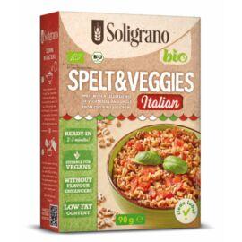 Soligrano Vegán Organikus Tönköly Rizottó Olasz fűszerezéssel 90 g