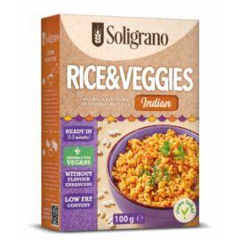 Soligrano Vegán Rizottó zöldségekkel indiai ízesítéssel 100 g