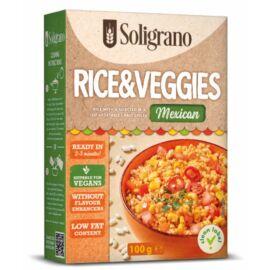 Soligrano Vegán Rizottó zöldségekkel mexikói ízesítéssel 100 g