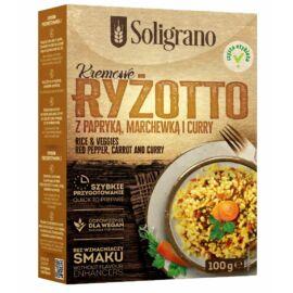 Soligrano Vegán Rizottó piros paprikával, sárgarépával és curryvel 100 g