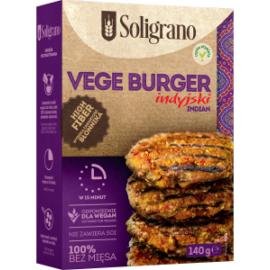 Soligrano Vegán Burger Alappor Indiai ízesítéssel 140 g