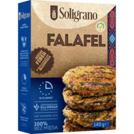 Soligrano Vegán Burger Alappor csicseriborsóból Falafel ízesítéssel 140 g