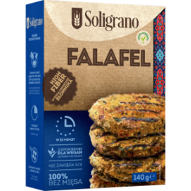 Soligrano Vegán Falafel Burger Alappor csicseriborsóból 140 g – Natur Reform