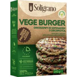 Soligrano Vegán Burger alappor spenóttal és csicseriborsóval 140 g