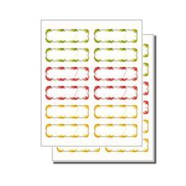 Tescoma DELLA CASA befőttes üveg öntapadó matrica, 24 db
