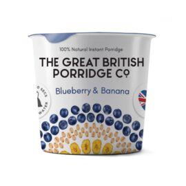 The Great British Porridge Áfonya & banán poharas instant zabkása (gluténmentes) 60 g