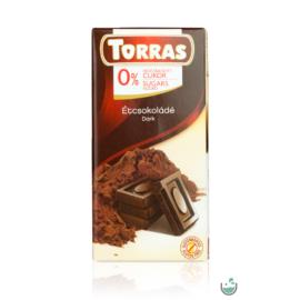 Torras Vegán étcsokoládé hozzáadott cukor nélkül (gluténmentes) 75 g