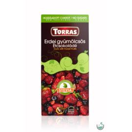 Torras Stevia Vegán erdei gyümölcsös étcsokoládé (gluténmentes) 125 g