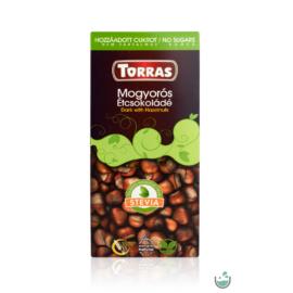 Torras Stevia Vegán mogyorós étcsokoládé (gluténmentes) 125 g