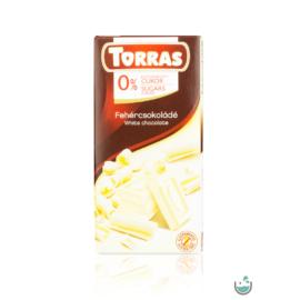 Torras Fehércsokoládé hozzáadott cukor nélkül (gluténmentes) 75 g