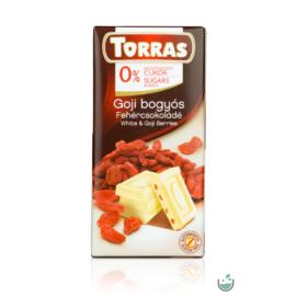 Torras goji bogyós fehércsokoládé hozzáadott cukor nélkül 75 g – Natur Reform
