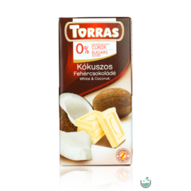 Torras kókuszos fehércsokoládé hozzáadott cukor nélkül 75 g – Natur Reform