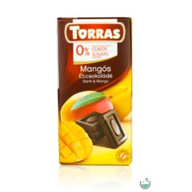 Torras Mangós vegán étcsokoládé hozzáadott cukor nélkül (gluténmentes) 75 g