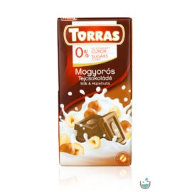 Torras mogyorós tejcsokoládé hozzáadott cukor nélkül 75 g – Natur Reform
