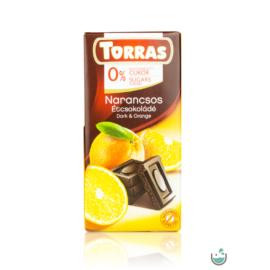 Torras Narancsos vegán étcsokoládé hozzáadott cukor nélkül (gluténmentes) 75 g