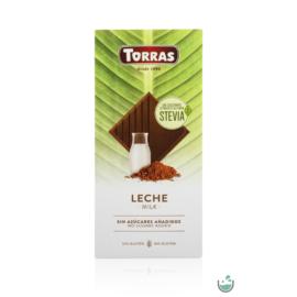 Torras Stevia Tejcsokoládé hozzáadott cukor nélkül (gluténmentes) 100 g