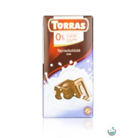 Torras Tejcsokoládé hozzáadott cukor nélkül (gluténmentes) 75 g
