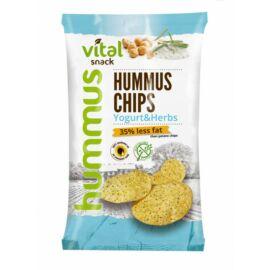 VitalSnack Hummus chips joghurtos-zöldfűszeres ízesítéssel 65 g