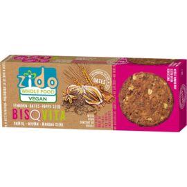 Zido Bisquita vegán keksz teljes kiőrlésű alakorból mákkal és datolyával 115 g