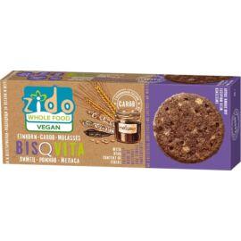 Zido Bisquita vegán keksz teljes kiőrlésű alakorból karobbal és melasszal 115 g