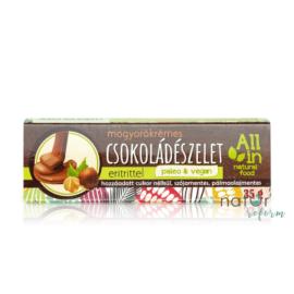 ALL IN natural food Mogyorókrémes csokoládészelet eritrittel (vegán) 35 g
