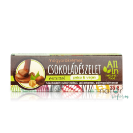 ALL IN natural food Mogyorókrémes csokoládészelet eritrittel 35 g