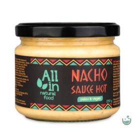 ALL IN natural food Nacho sauce HOT (csípős) 250 g – Natur Reform