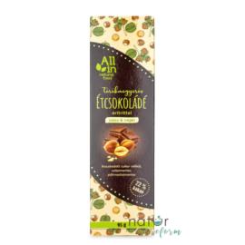 ALL IN natural food Törökmogyorós étcsokoládé eritrittel 95 g