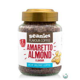 Beanies Amaretto- mandula ízű koffeinmentes instant kávé 50 g – Natur Reform